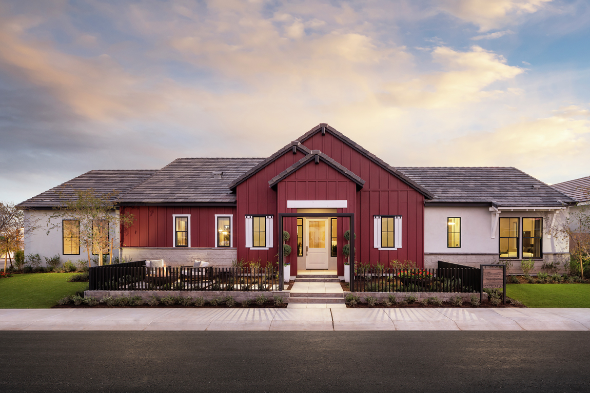Red farmhouse exterior design