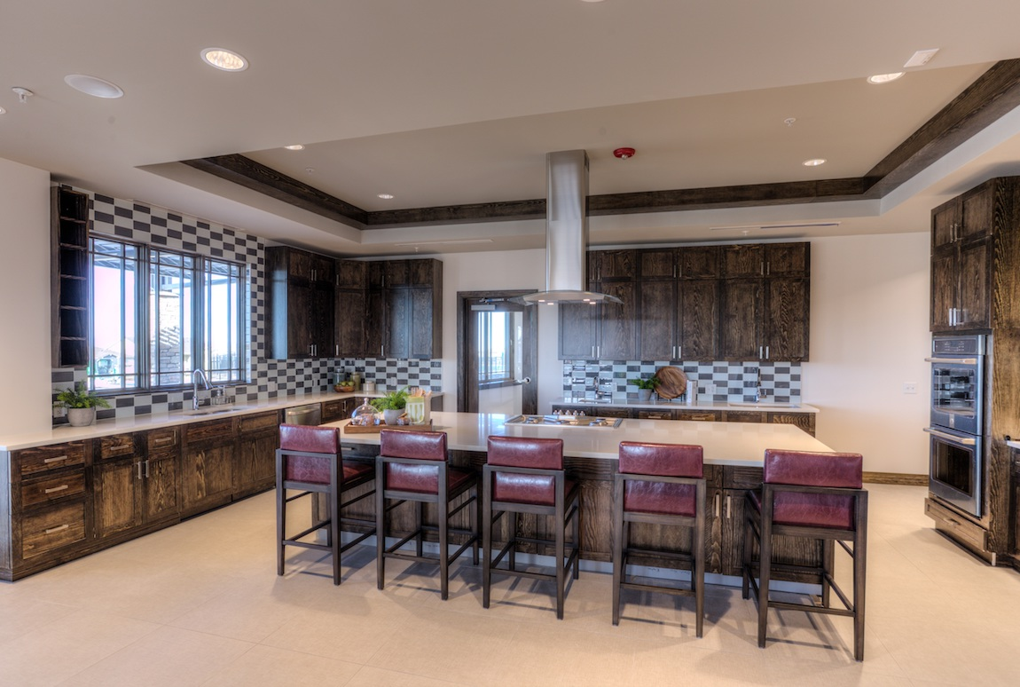 Interior of the clubhouse kitchen at Toll Brothers at Inspiration