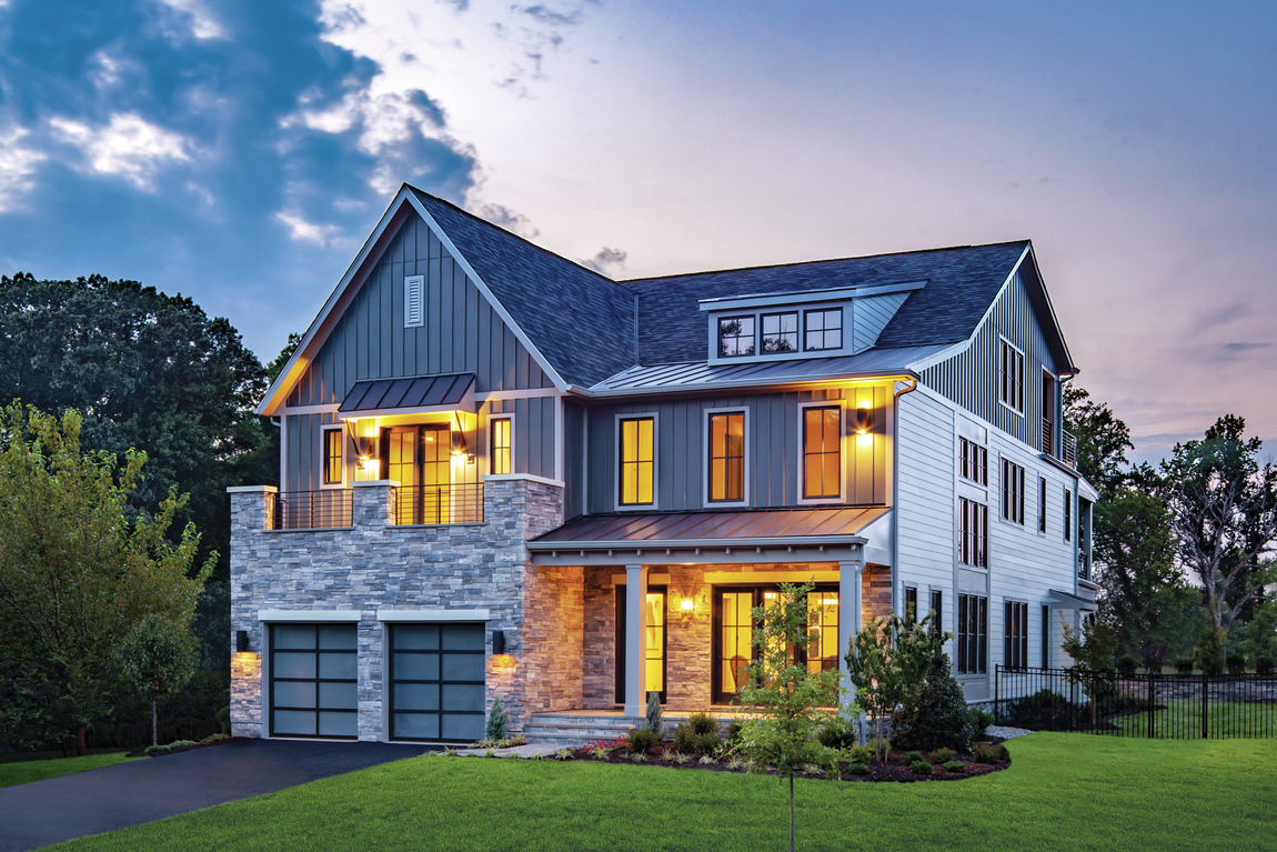 Superb modern farmhouse exterior