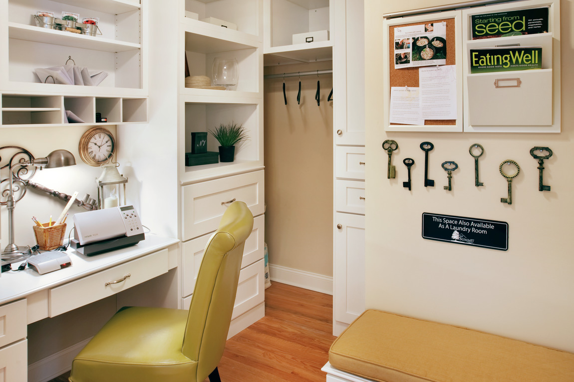 Organized space to work from home