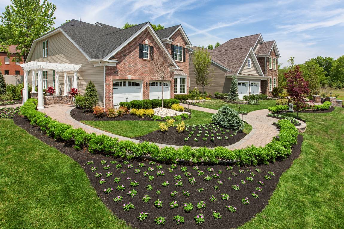 Front lawn with beautifully designed garden