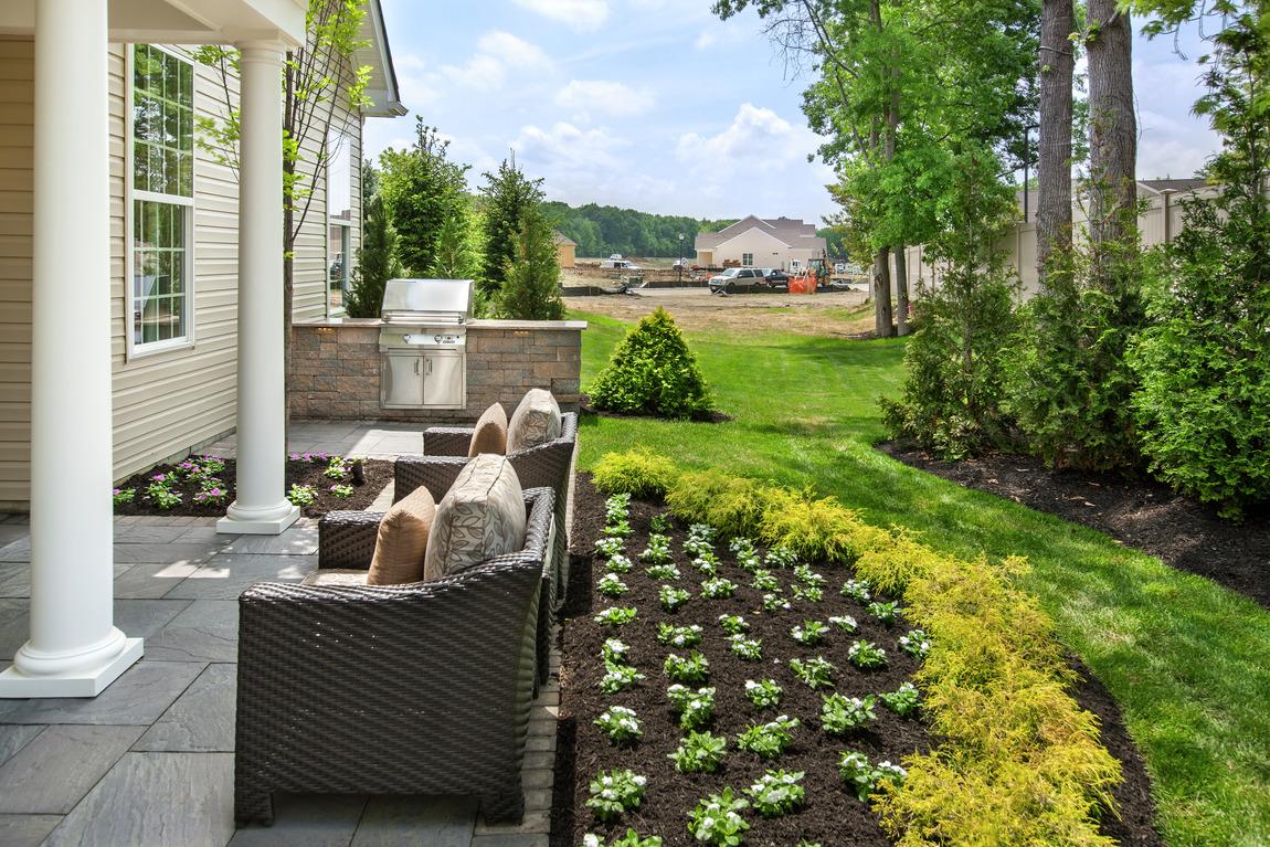 Backyard with garden