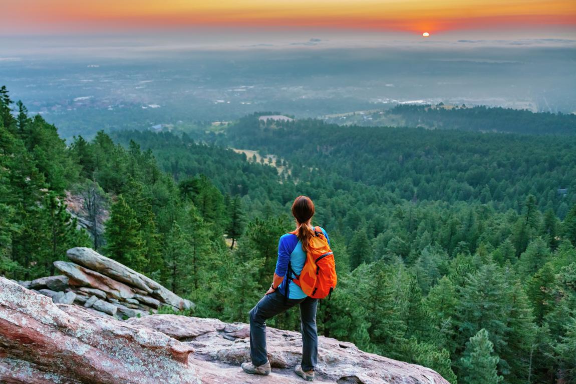 Woman hiking in Colorado