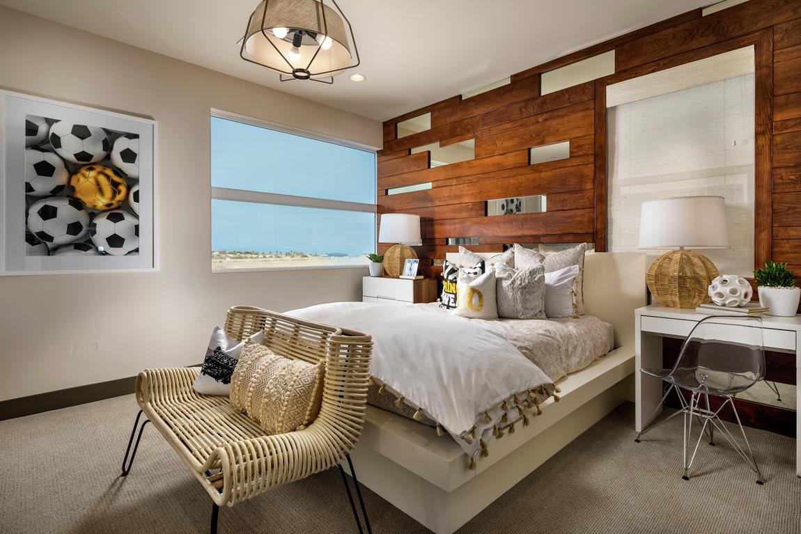 mid-century modern bedroom