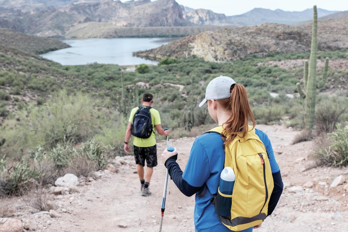 Hikers enjoying life in Phoenix