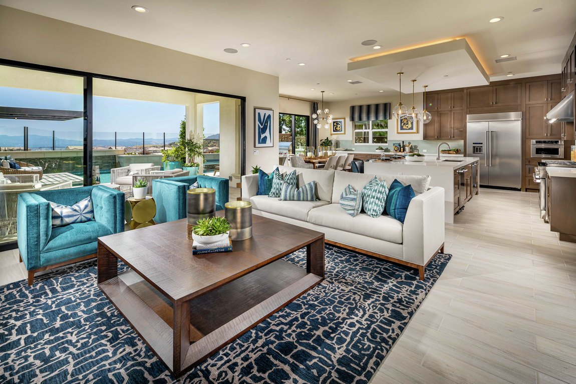 Spacious interior layout featuring area rug, accent lighting, outdoor transition, and other great features