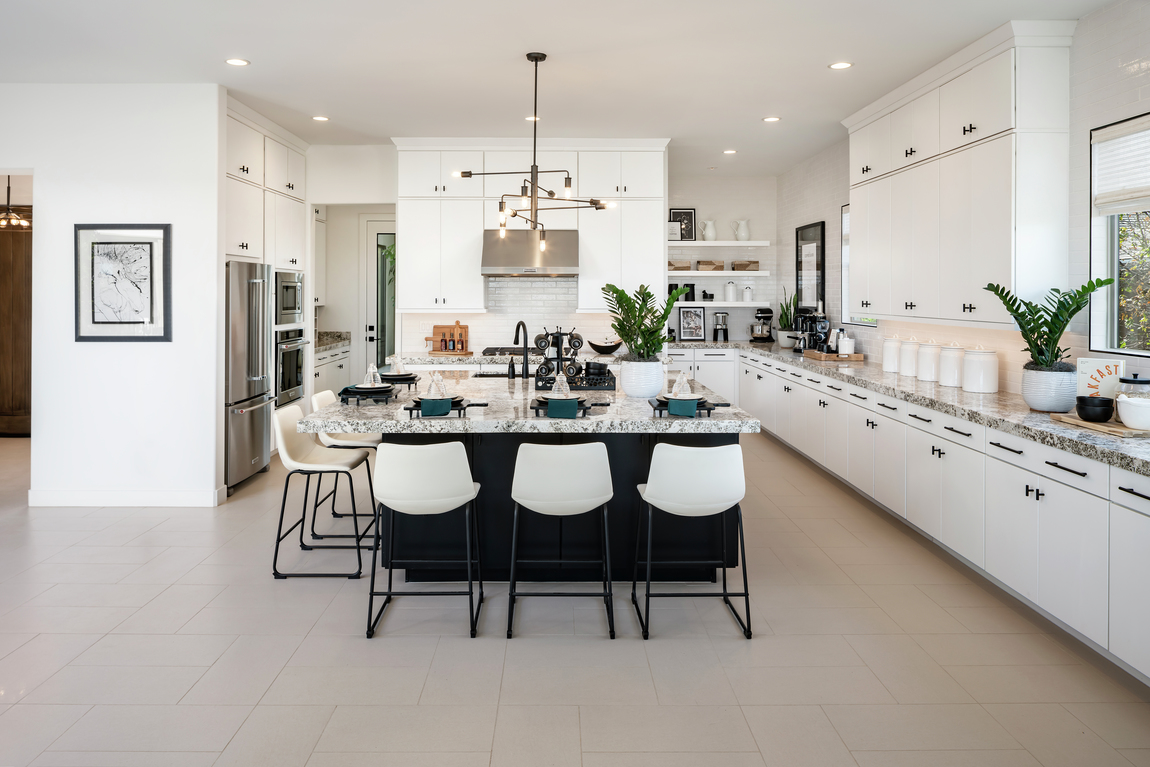 Spacious kitchen with luxe features and appliances