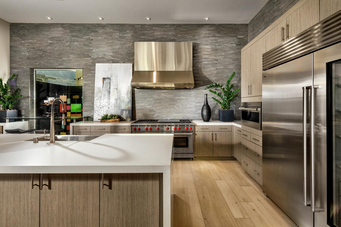 Luxury kitchen with recessed downlight