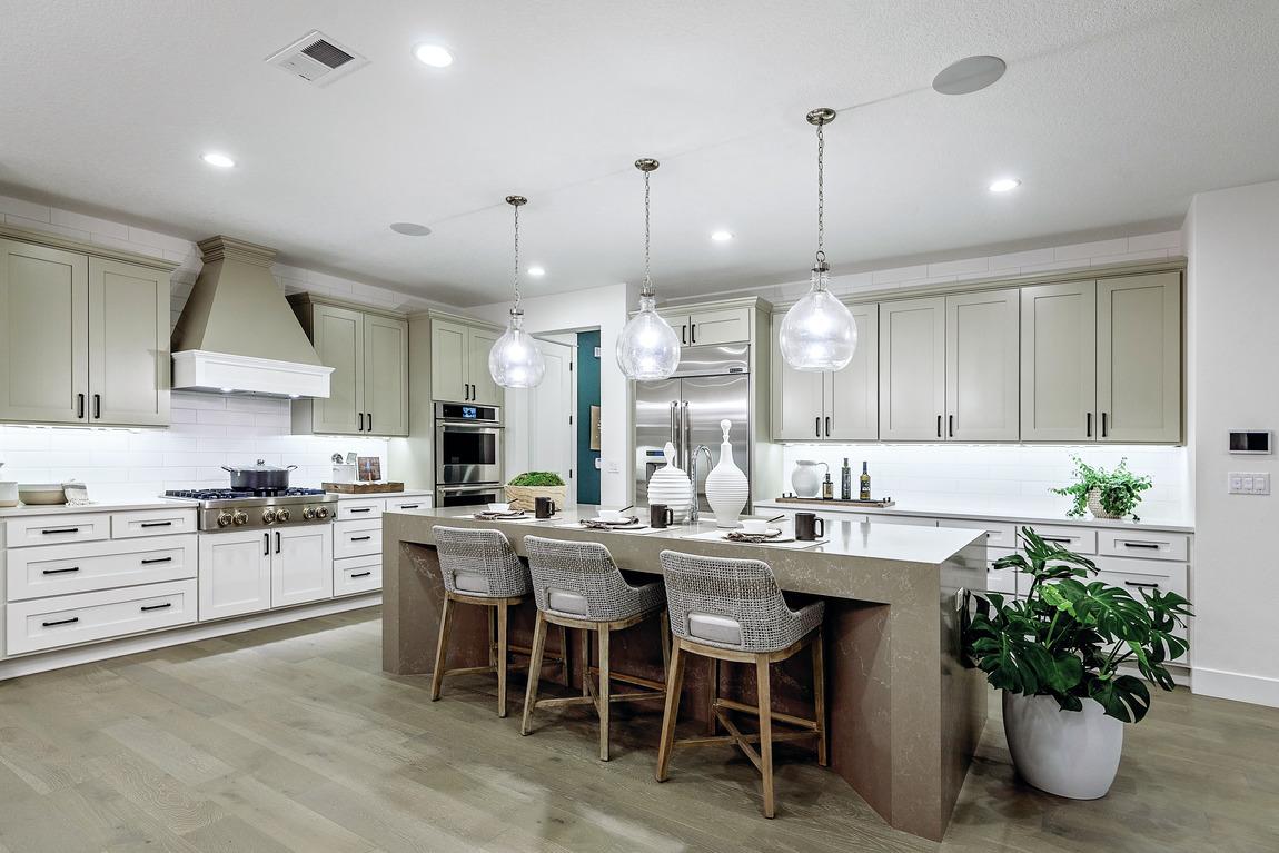Charming kitchen design with hardwood floors