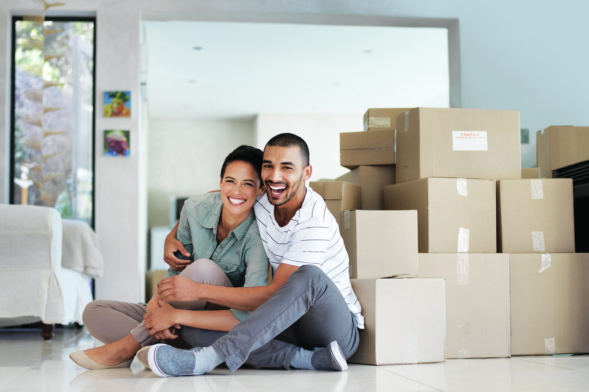 Couple happy to be done with packing