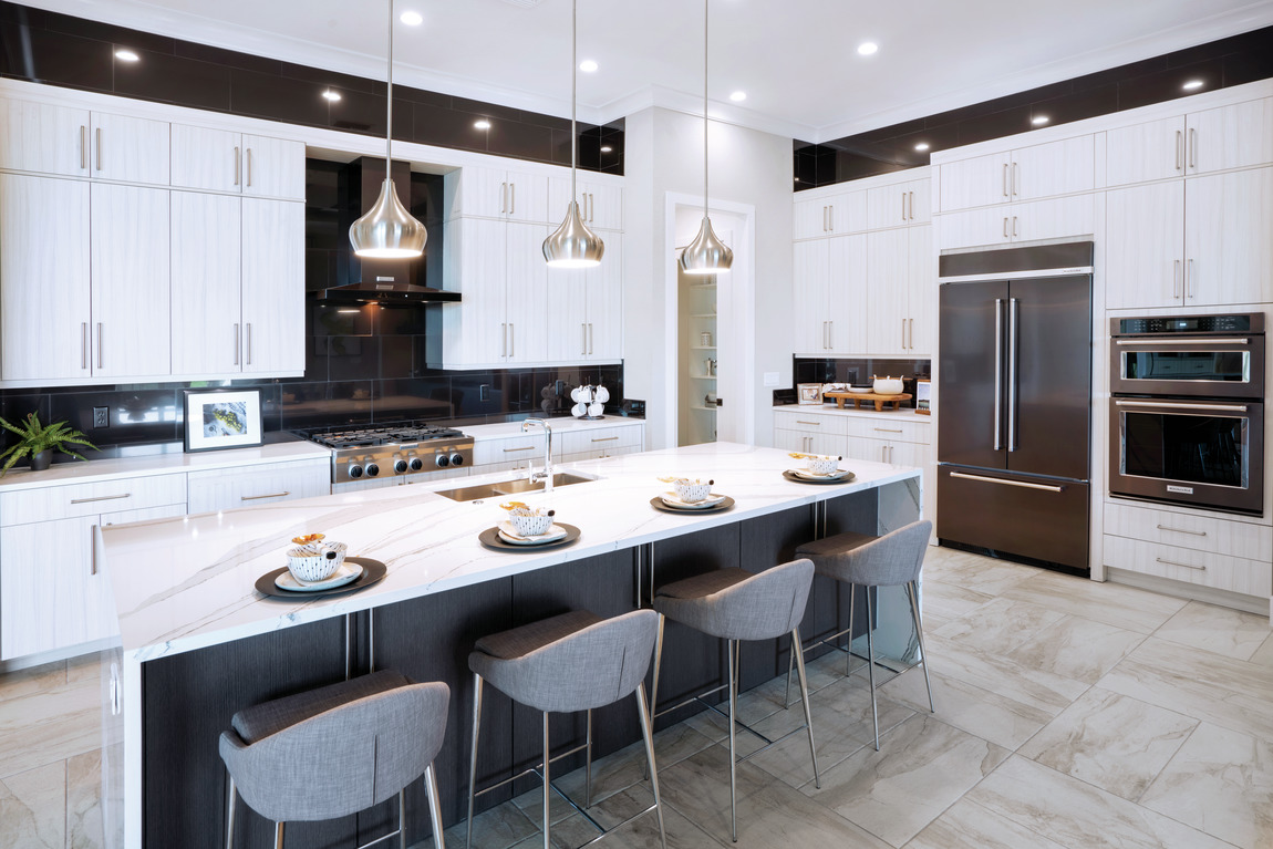 innovative kitchen design with sleek décor and cutting-edge appliances