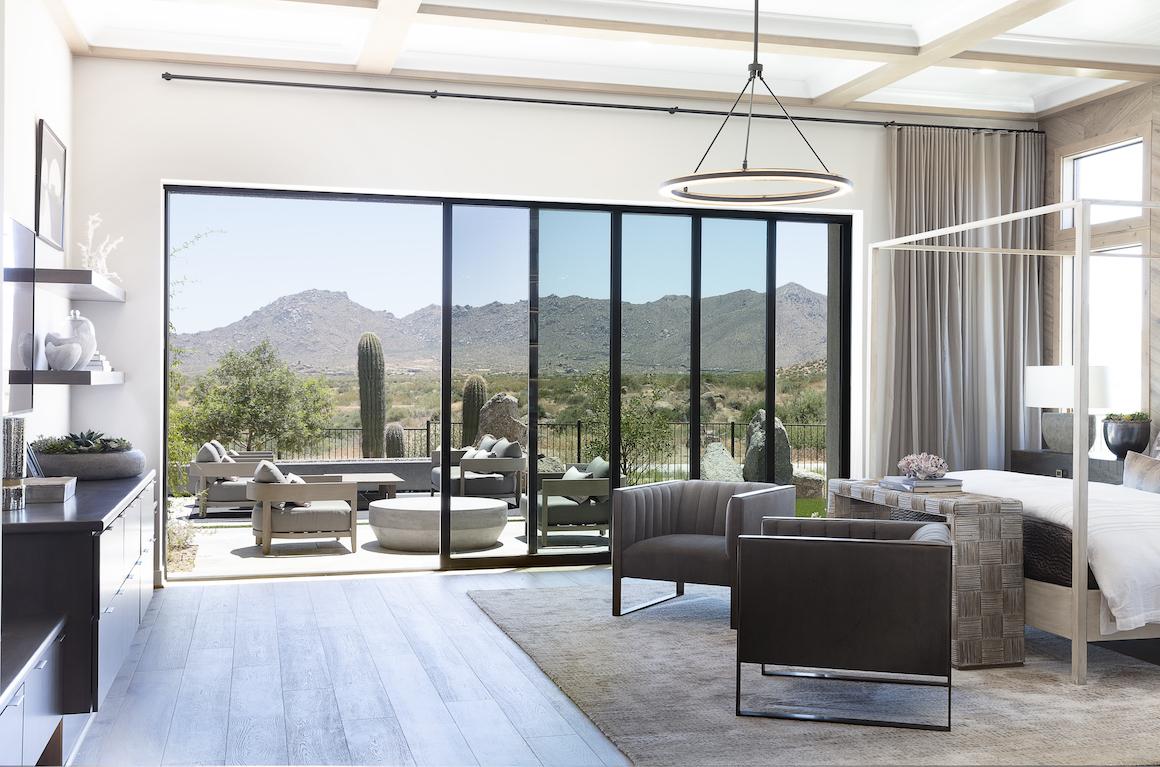 bedroom featuring indoor-outdoor transition