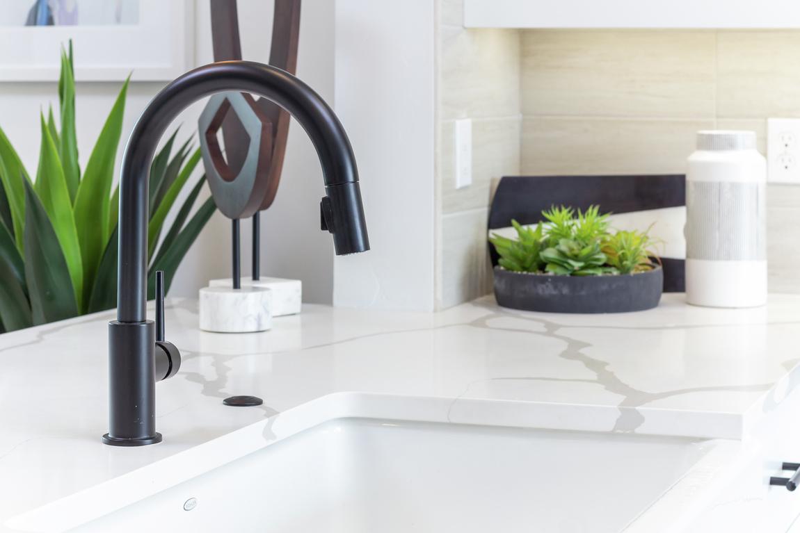 Luxe modern sink with sleek design
