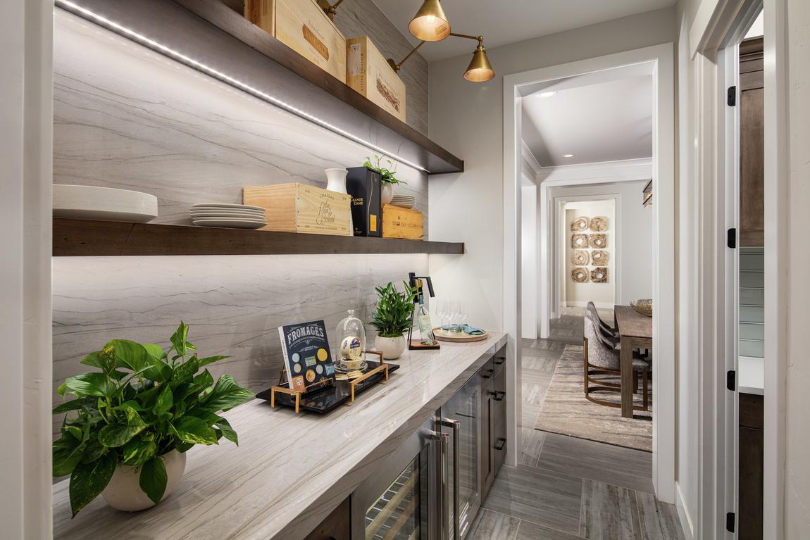 Luxury walk-in pantry in Rocklin, CA