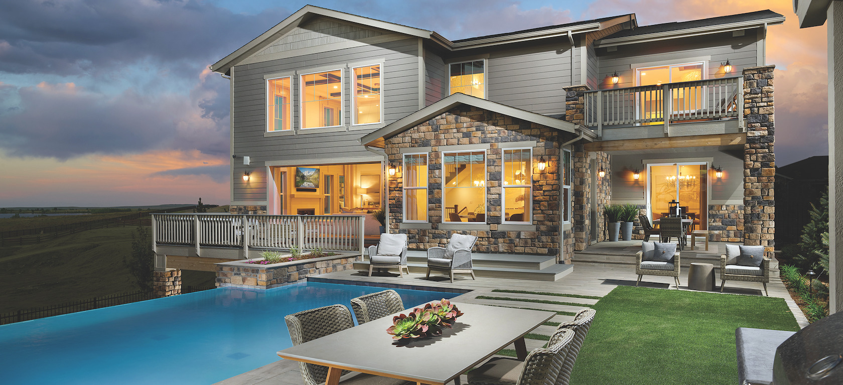 luxe backyard design
