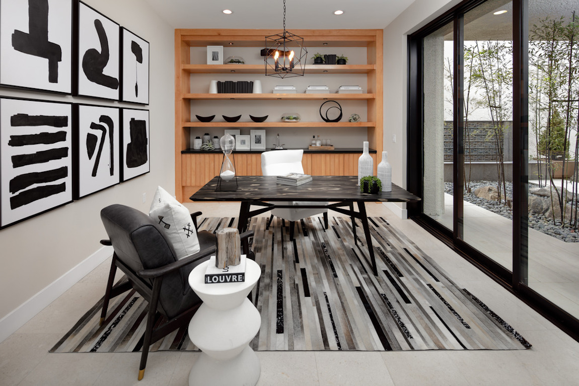 Contemporary office with outdoor transition