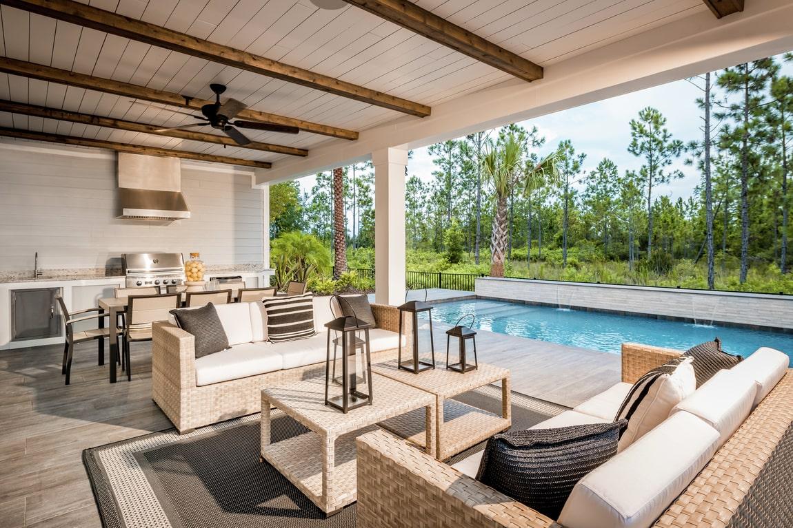luxe farmhouse outdoor patio
