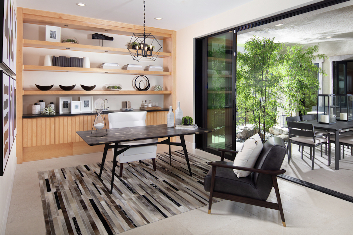 Home office with outdoor transition