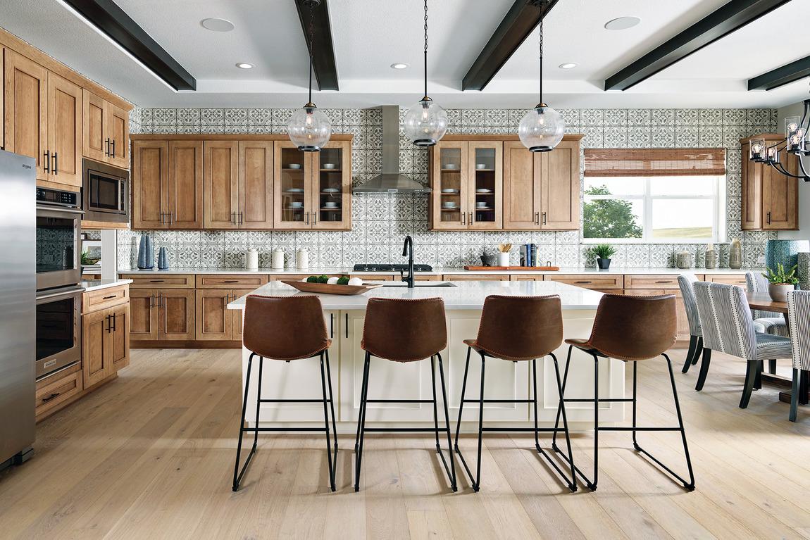 luxe modern farmhouse kitchen design
