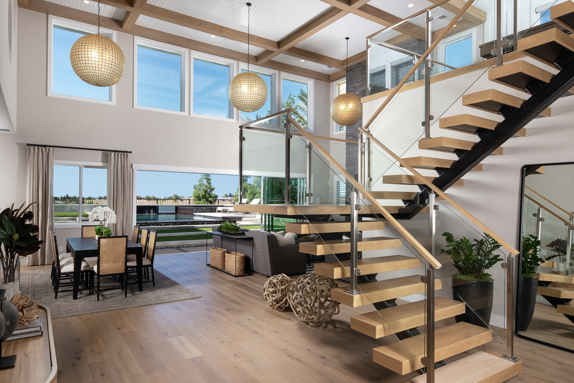 contemporary two-story great room design