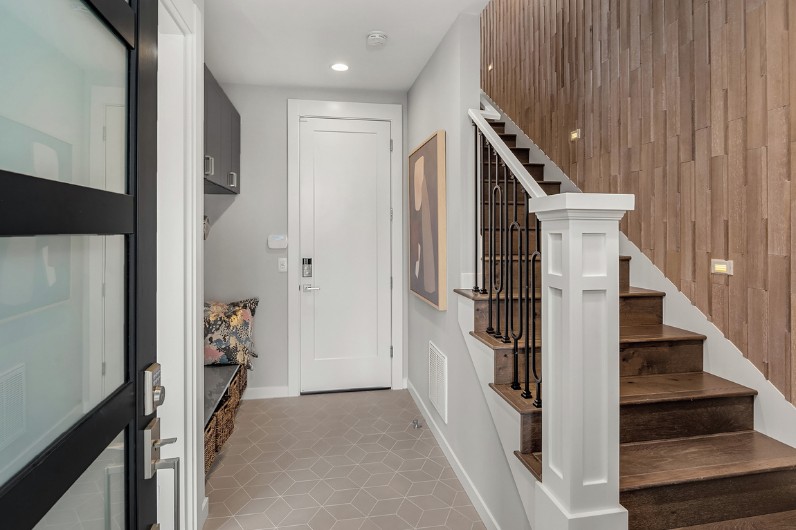 Entryway with tile flooring