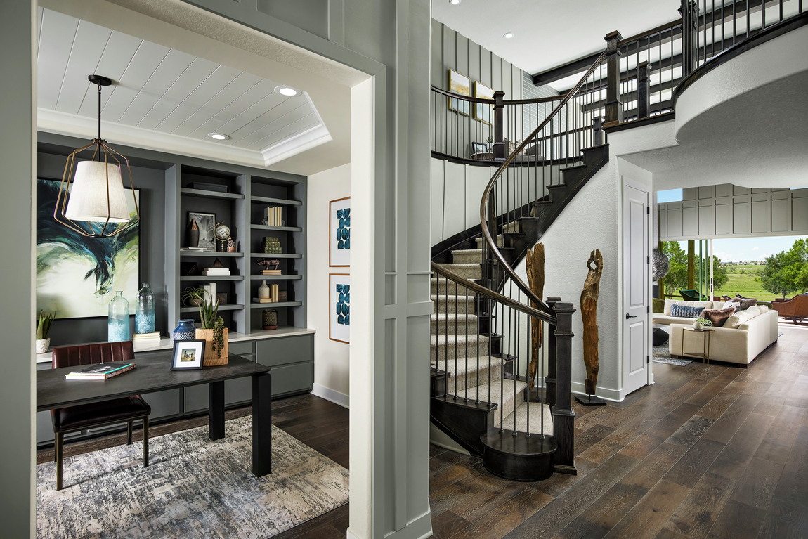 Foyer with side home office
