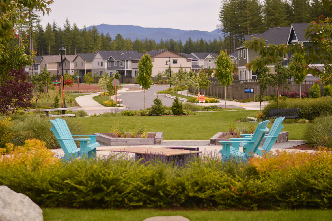 Luxe community outdoor space