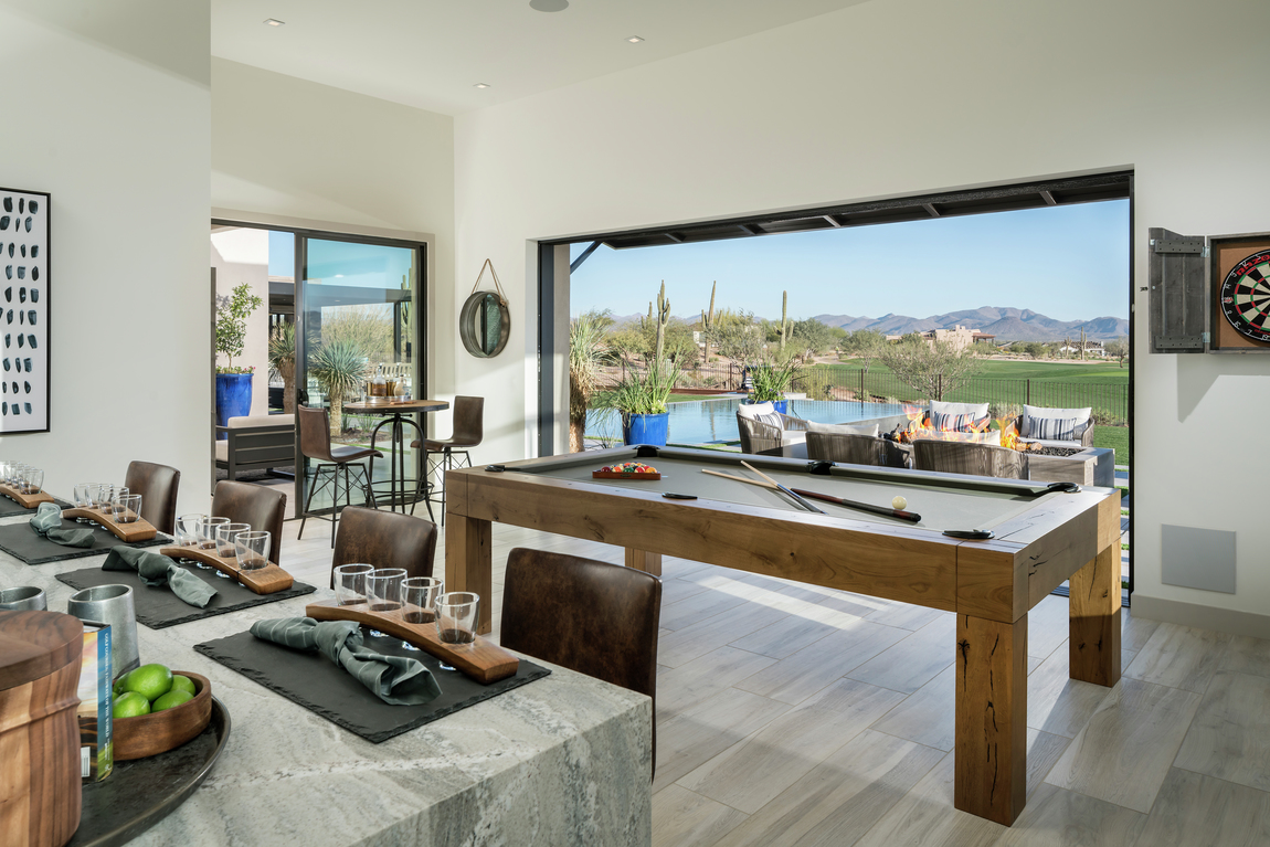 billiards and outdoor transition