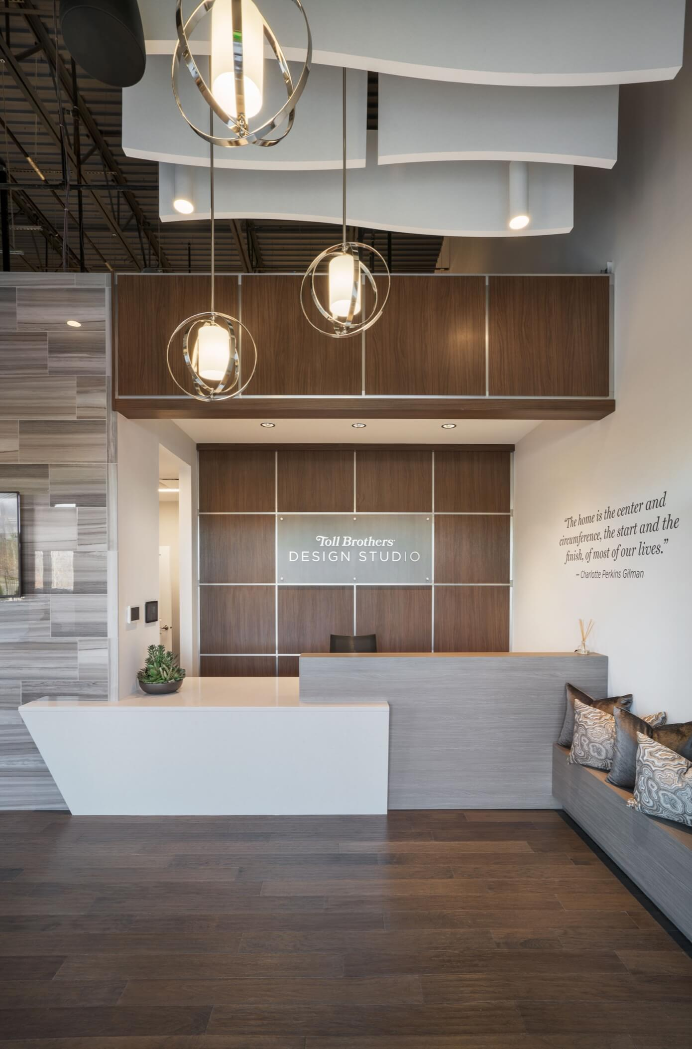 Toll Brothers Design Studio lobby